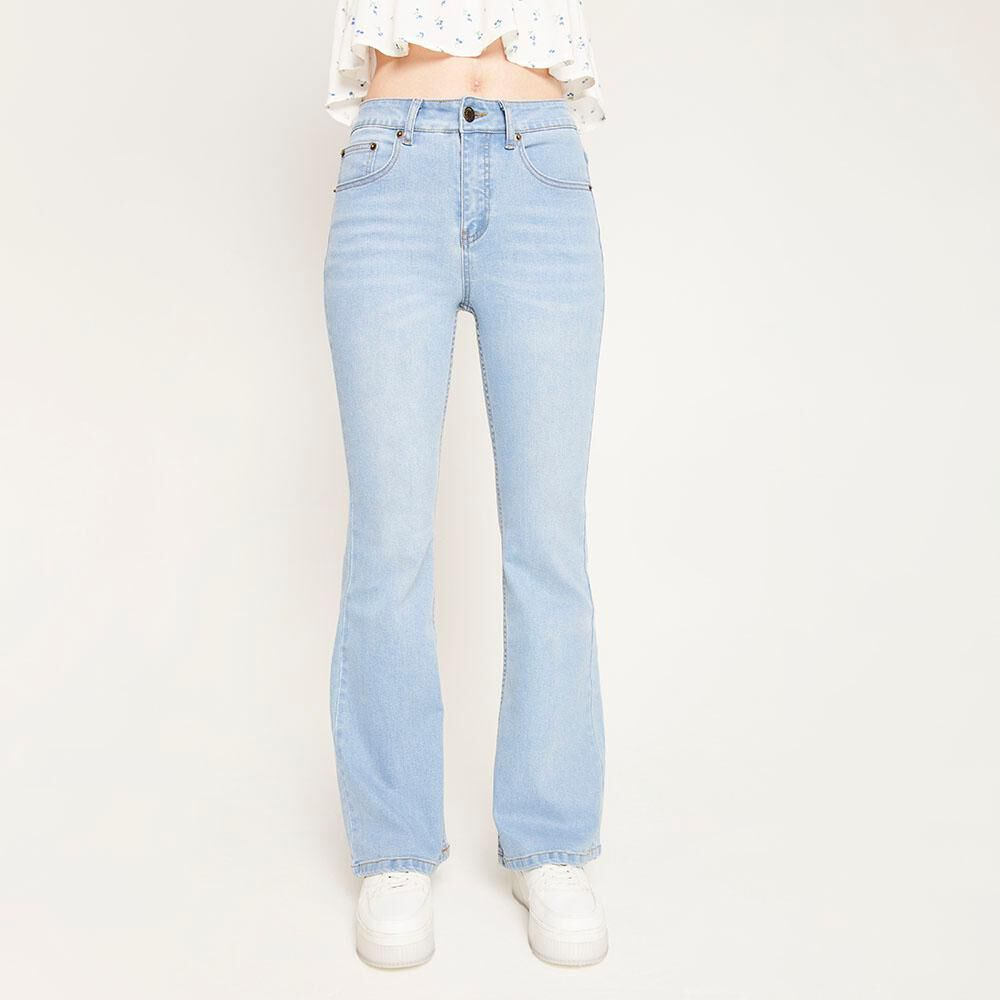 Jeans Tiro Alto Flare Mujer Freedom image number 0.0