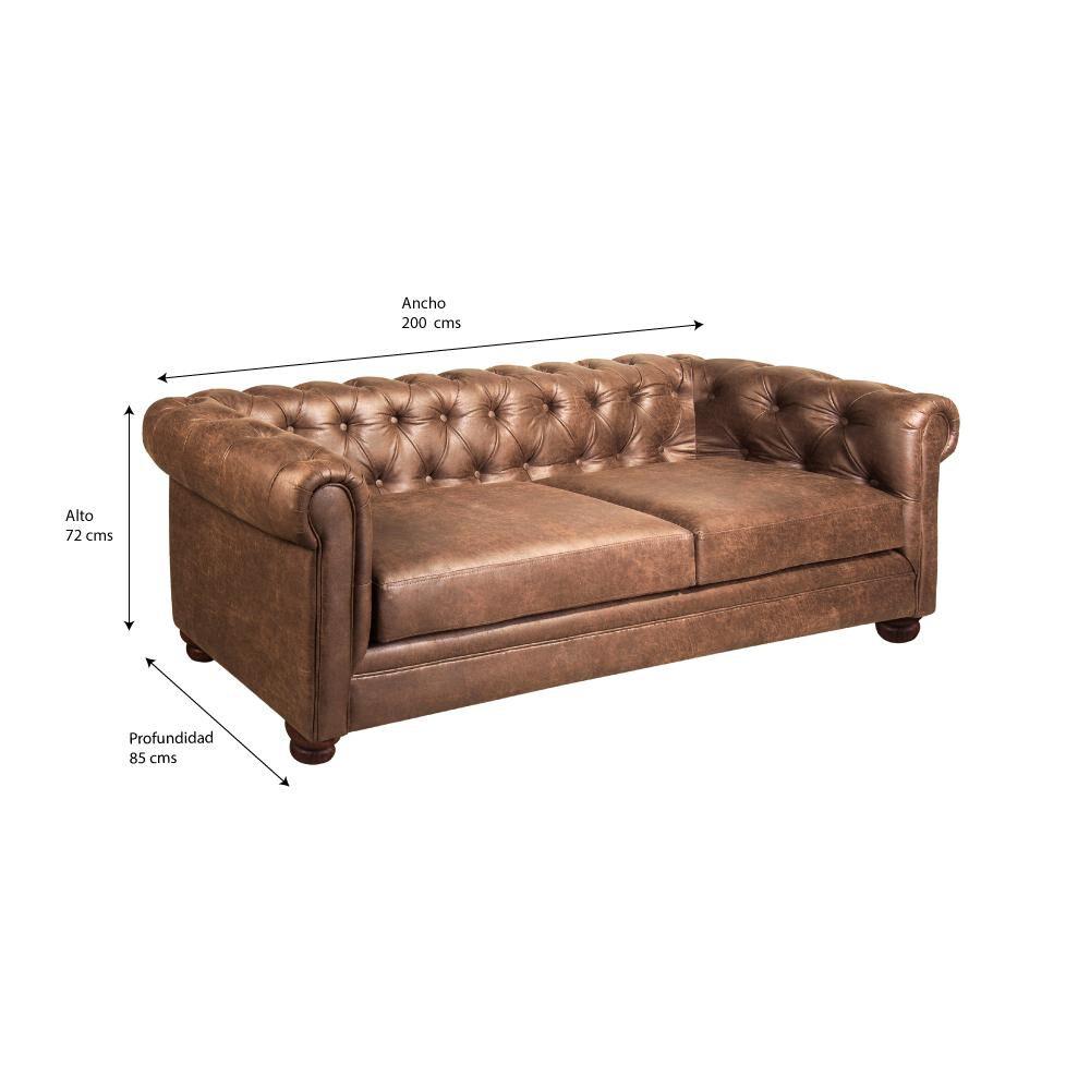 Sofa Mobel Home 3C Cuero / 3 Cuerpos image number 2.0