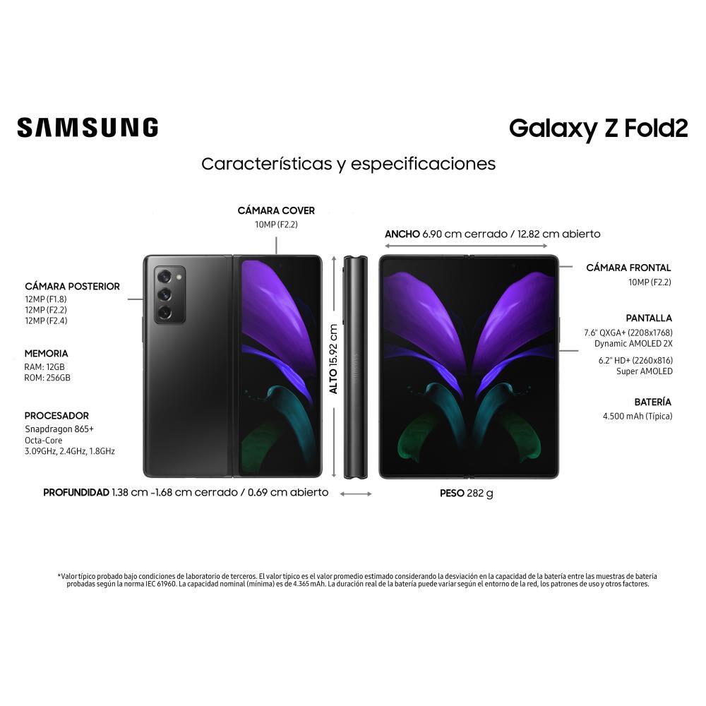 Smartphone Samsung Galaxy Z Fold 2 Mystic Black / 256 Gb / Liberado image number 4.0