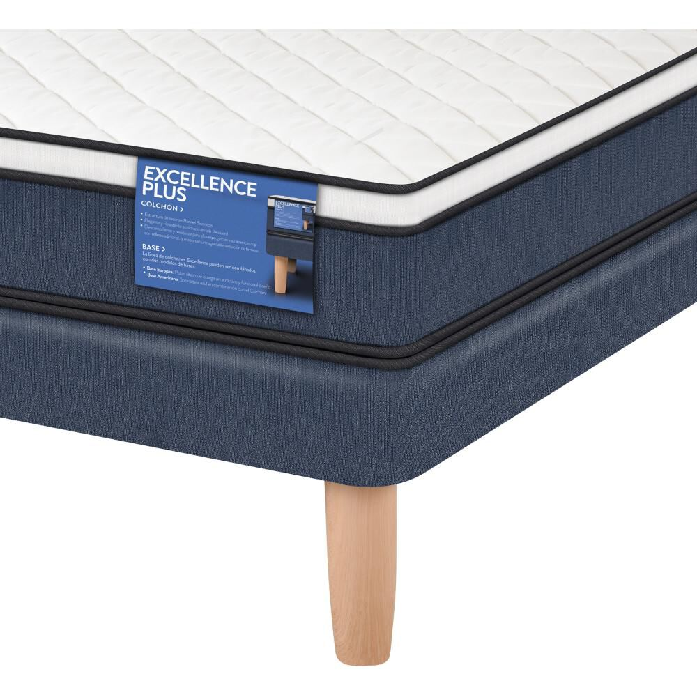 Cama Europea Cic Excellence Plus / 2 Plazas / Base Normal  + Set De Maderas image number 3.0