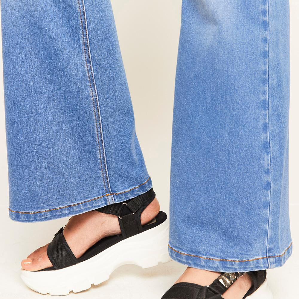 Jeans Tiro Alto Flare Mujer Rolly Go image number 4.0