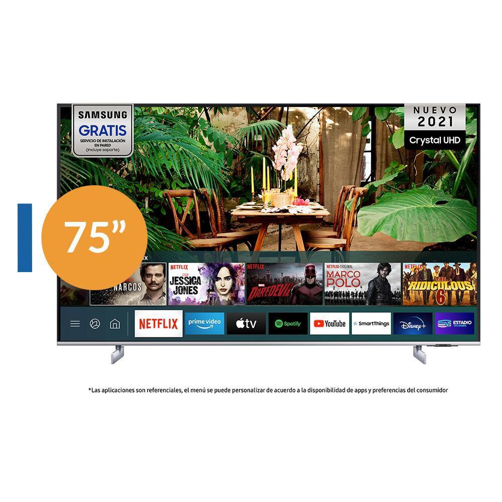 """Led Samsung AU8200 / 75"""" / Ultra Hd 4k / Smart Tv 2021 image number 0.0"""