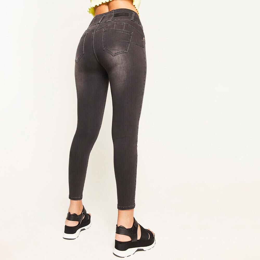 Jeans Pretina Alta Push Up Mujer Rolly Go image number 2.0