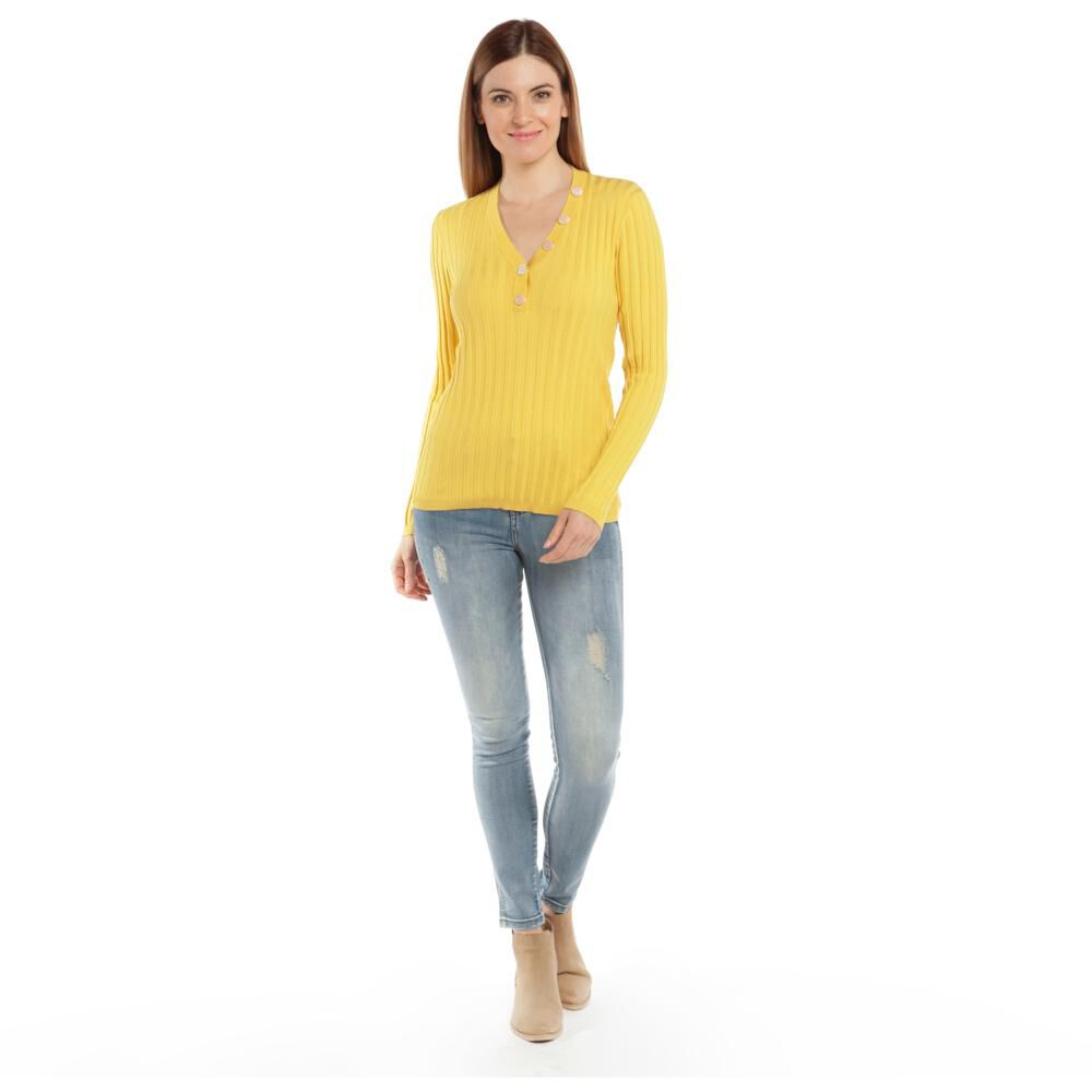 """Sweater Tejido Cuello V Mujer Bny""""S image number 1.0"""