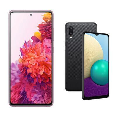 Samsung S20FE 256GB Violeta + Samsung A02 Negro