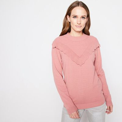 Sweater Cuello alto con Vuelos Mujer Kimera