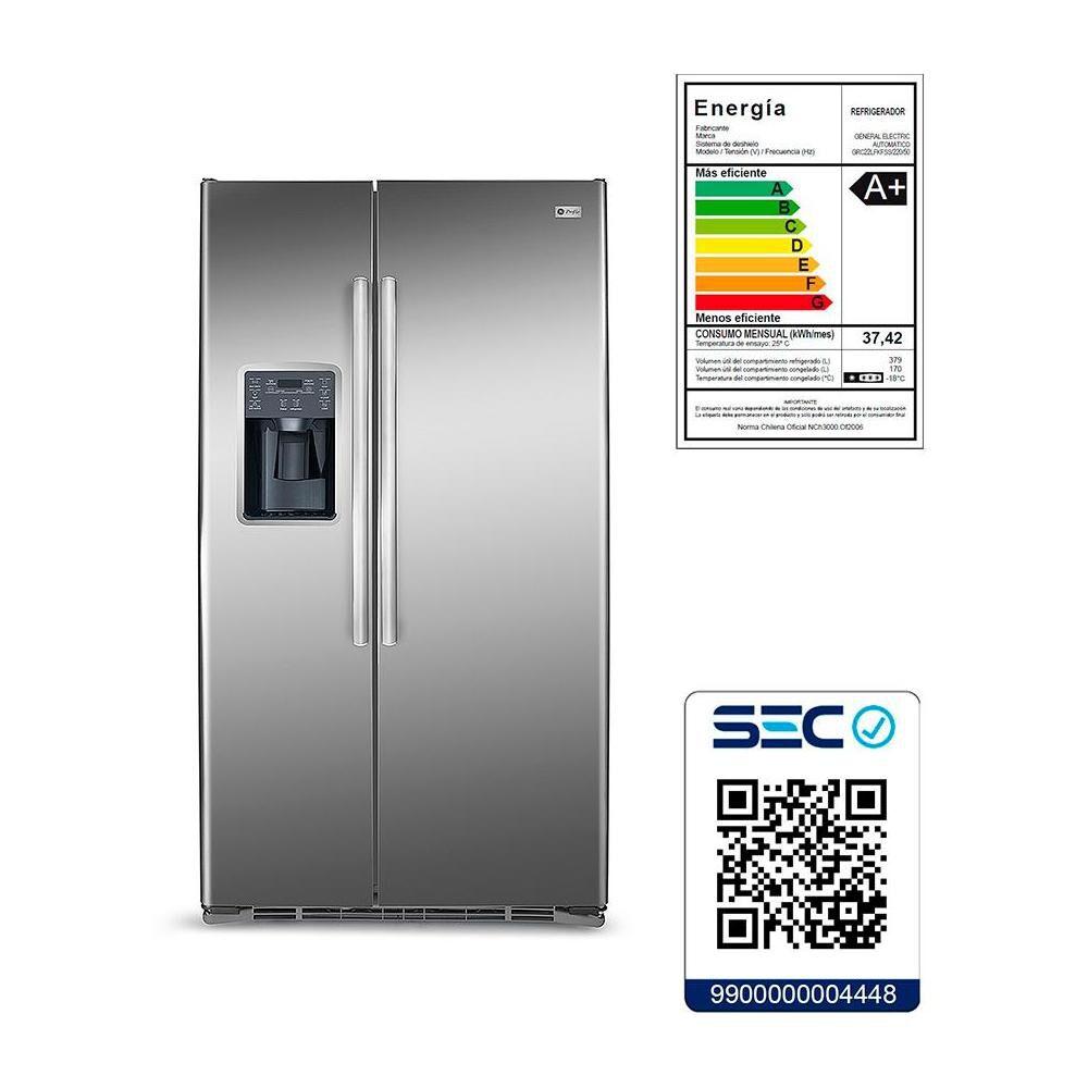 Refrigerador Side By Side GE GRC22LFKFSS / No Frost / 549 Litros image number 8.0