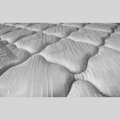 Cama Europea Celta Apolo Black / 2 Plazas / Base Dividida  + Textil