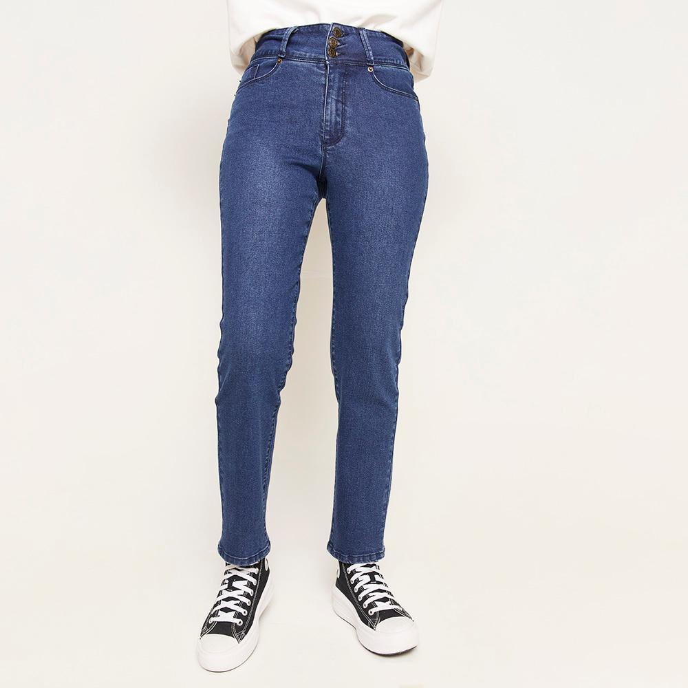 Jeans Pretina Ancha Botones Tiro Alto Sculpture Mujer Freedom image number 0.0