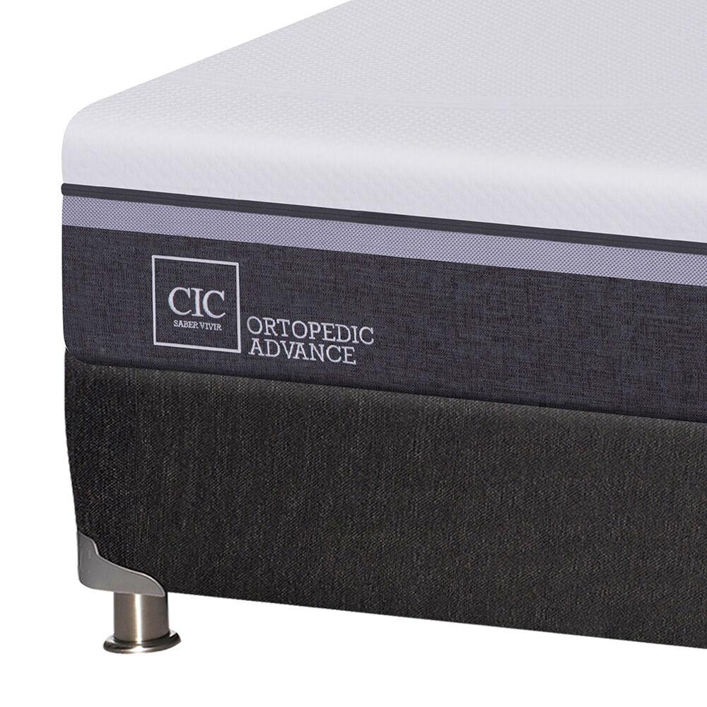 Box Spring Cic Ortopedic Advance / 2 Plazas / Base Dividida + Set De Maderas Enio image number 2.0