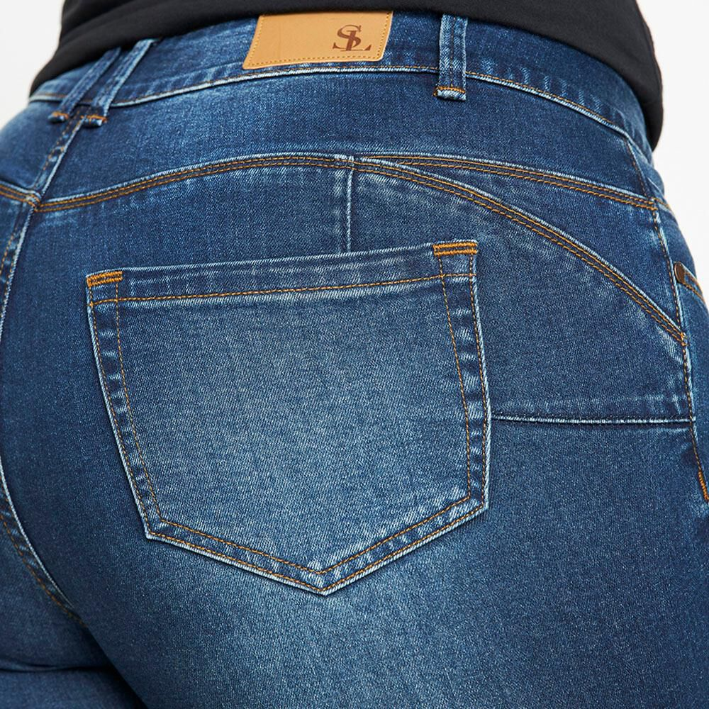 Jeans Jogger Tiro Medio Skinny Mujer Sexy Large image number 4.0