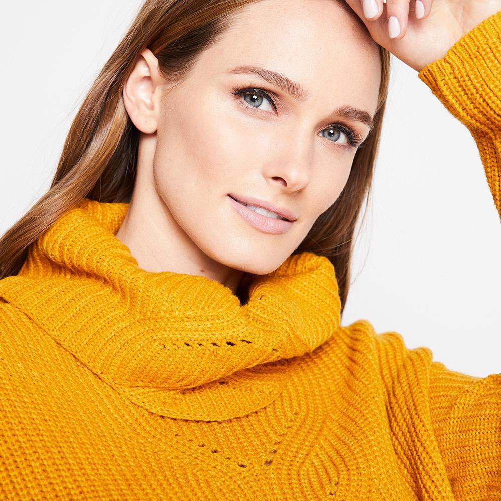 Sweater Tejido Largo Cuello Alto Mujer Kimera image number 3.0