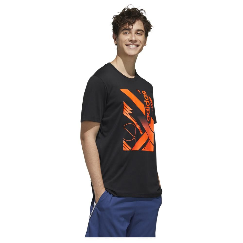 Polera Adidas M Core Graphic Linear Tee 2 image number 4.0