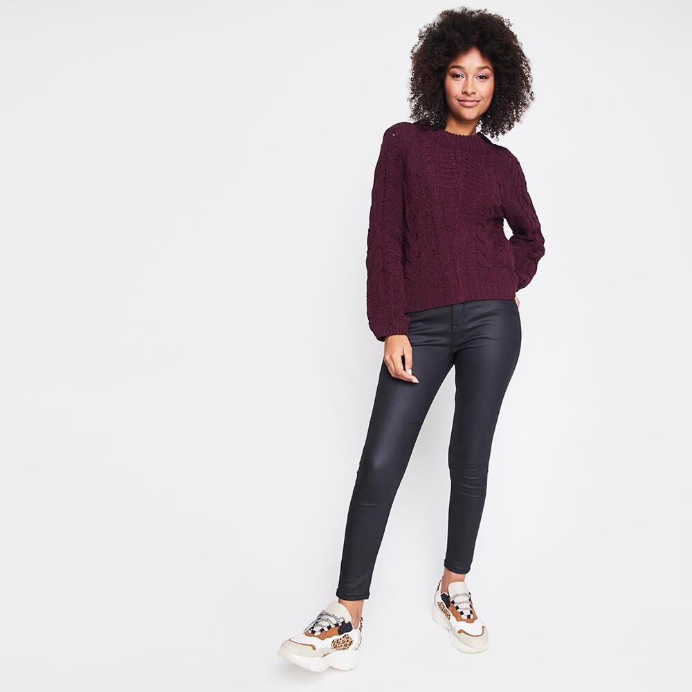 Sweater Tejido Trenzado Chenille Mujer Rolly Go image number 1.0