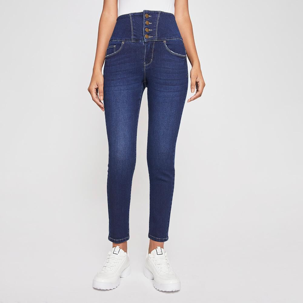 Jeans Mujer Tiro Alto Sculpture Rolly Go image number 0.0