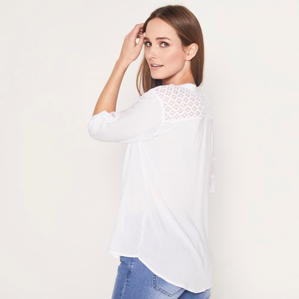 Blusa  Manga Roll up Mujer Geeps image number 2.0