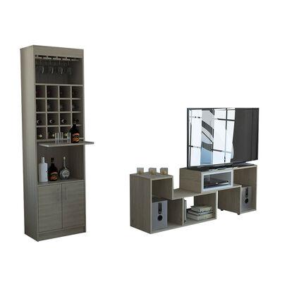 Combo Rack Extensible Casa Ideal Beijing + Bar Casa Ideal Kava