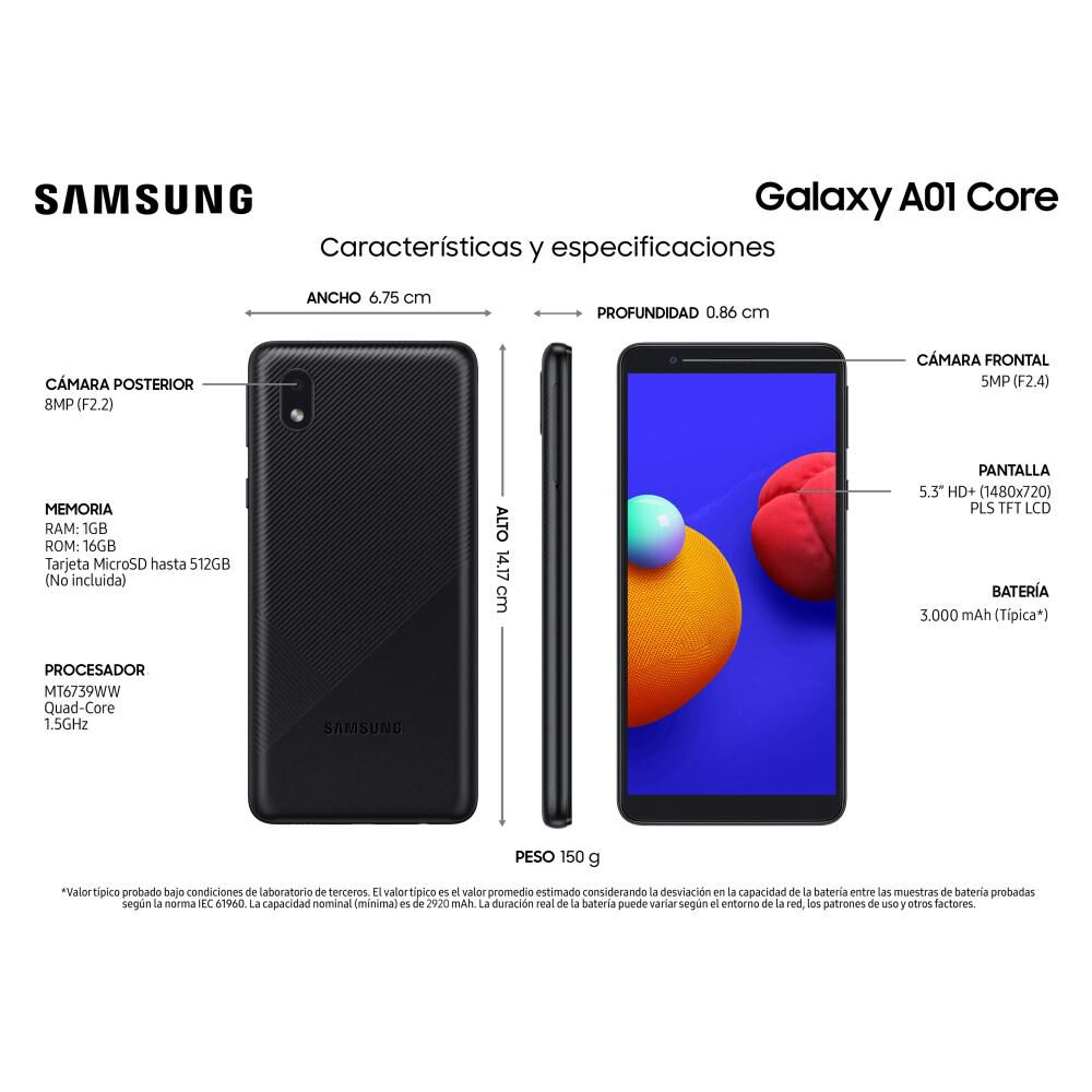 Smartphone Samsung A01 Core 16 Gb - Claro image number 3.0