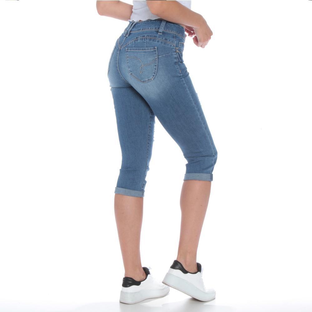 Jeans Crop Tiro Alto Mujer Wados image number 2.0
