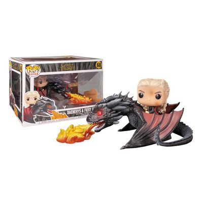 Figura De Acción Funko Pop Rides Game Of Thrones Daenerys On Fiery Drogon