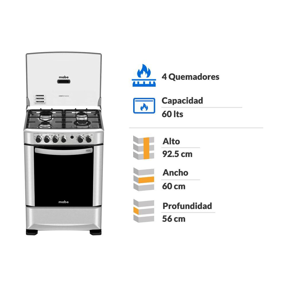 Cocina Mabe ANDES60TX4 / 4 Quemadores image number 1.0