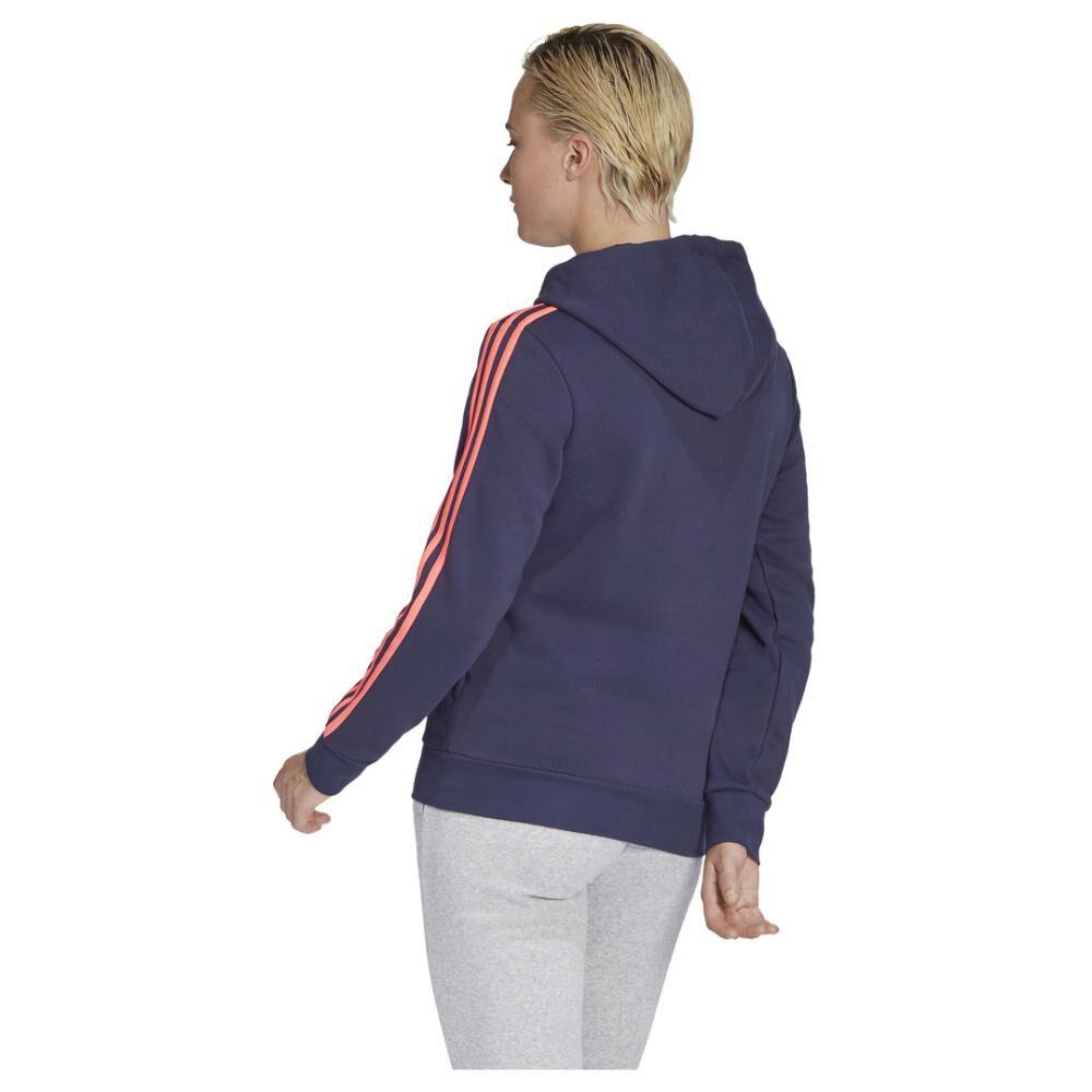 Poleron Deportivo Mujer Adidas Essentials Fleece 3s image number 3.0