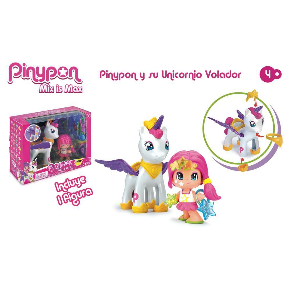 Muñeca Pinypon Set Unicornio Y Figura De Pinypon image number 1.0