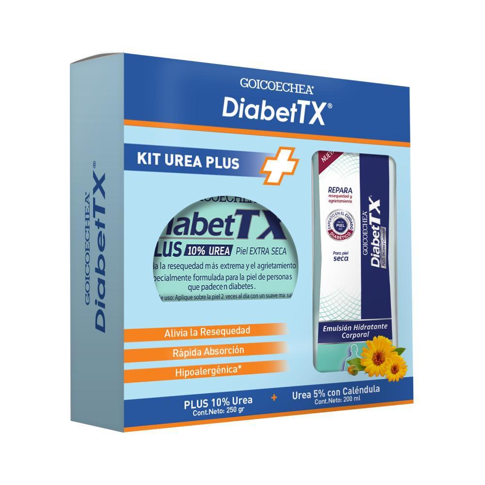 Set De Tratamiento Diabet Tx Plus Urea 10% X 250g + Diabet Tx Crema Para Manos  Codos X 50 Ml image number 0.0