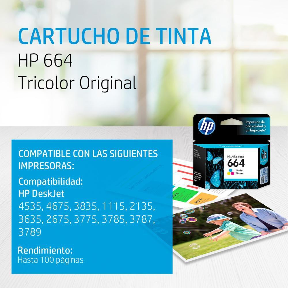 Tinta Hp 664 Tri-color Ink Cartridge image number 1.0