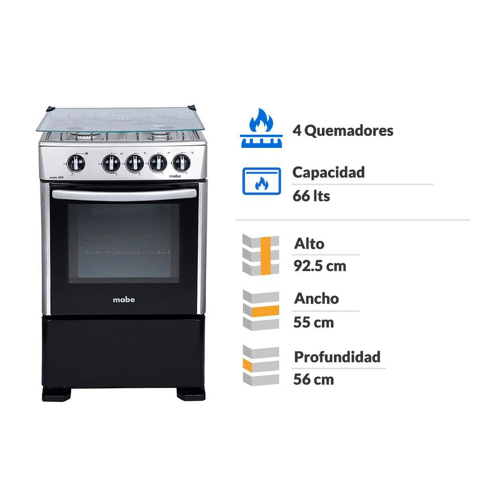 Cocina Mabe CMCC5515GCH-2 / 4 Quemadores image number 1.0