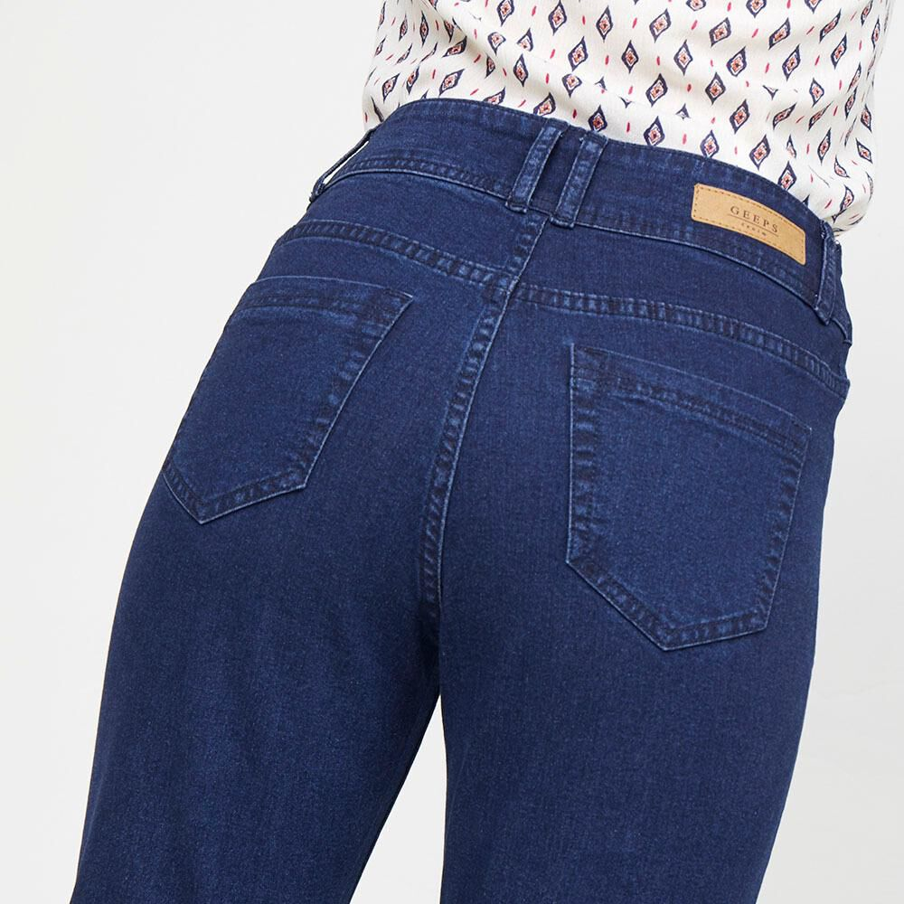 Jeans Mujer Tiro Alto Recto Geeps image number 3.0
