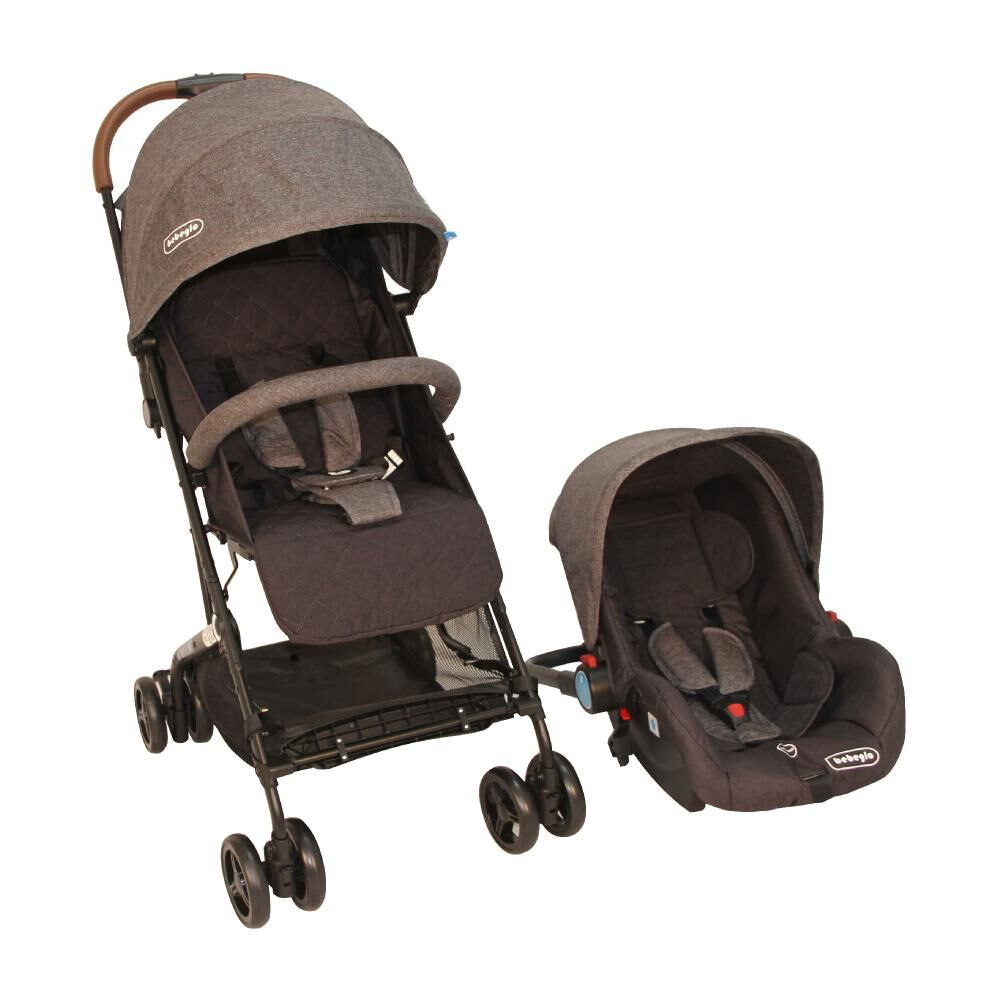 Coche Travel System Compacto Bebeglo RS-13785-3 Gris image number 0.0