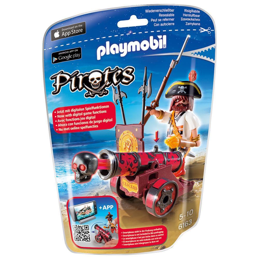 Figura Coleccionable Playmobil Cañón Interactivo Rojo Con Bucanero image number 1.0
