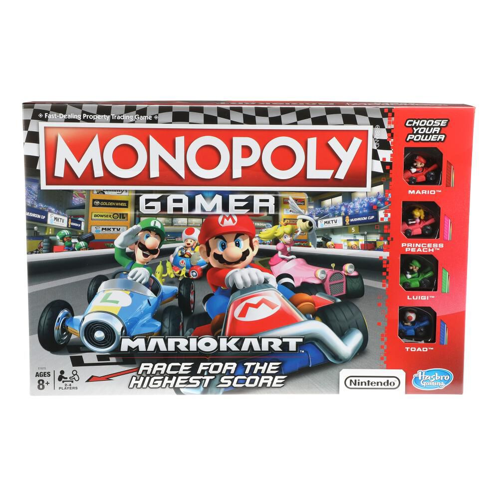 Juegos Familiares Monopoly Gamer Mario Kart image number 1.0