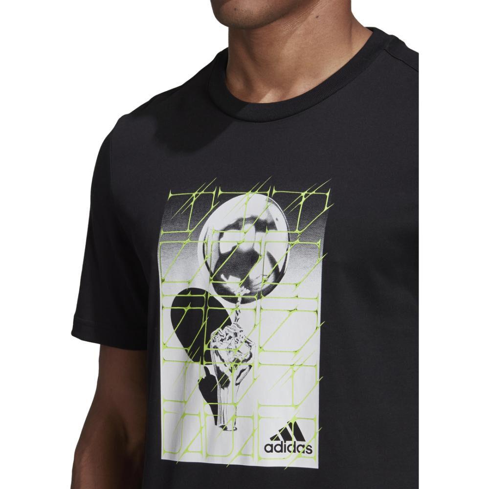 Polera Hombre Adidas M Hyperreal Ballspin Tee image number 7.0