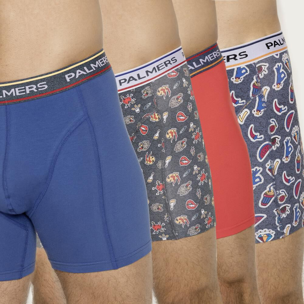 Pack Boxer Hombre Palmers / 4 Piezas image number 0.0