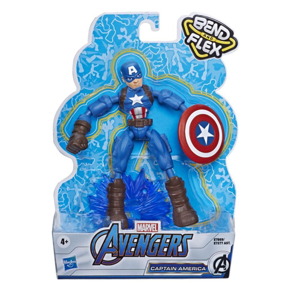 Figura De Accion Avenger Avn Bend And Flex Captain America image number 1.0