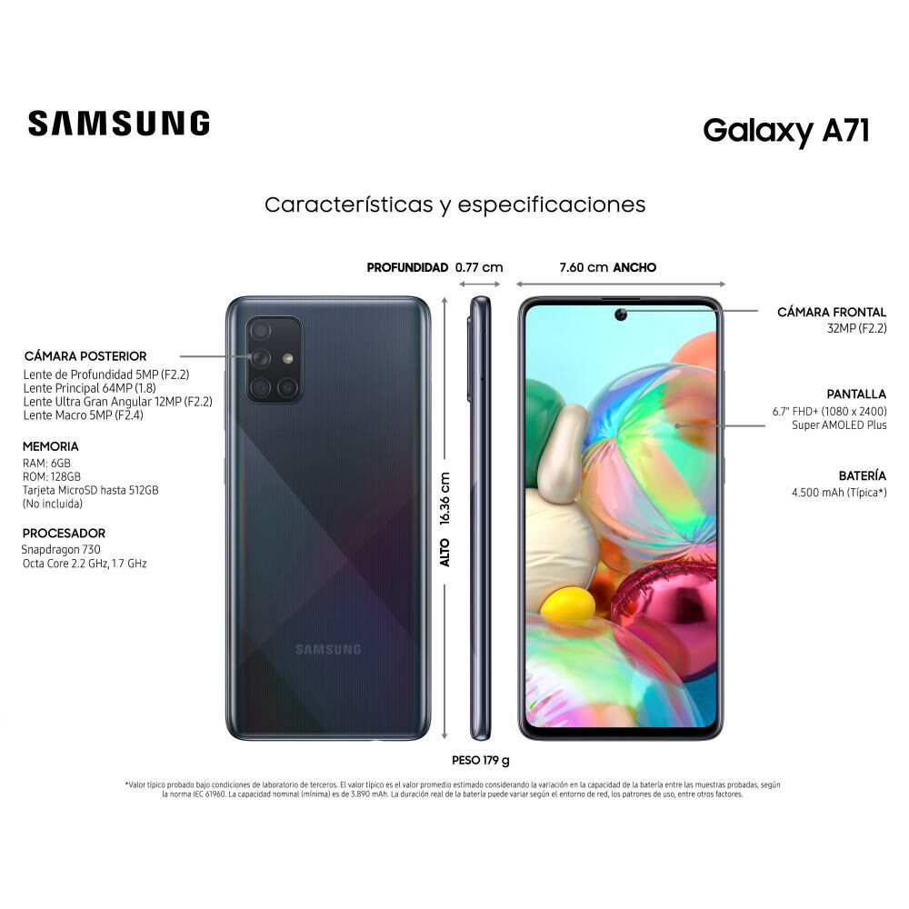 Smartphone Samsung Galaxy A71 128 Gb / Liberado image number 3.0