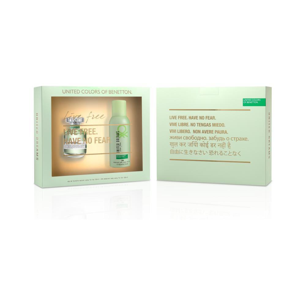 Perfume Live Free + Desodorante Benetton / 50 Ml / 150ml / Eau De Toillete image number 0.0