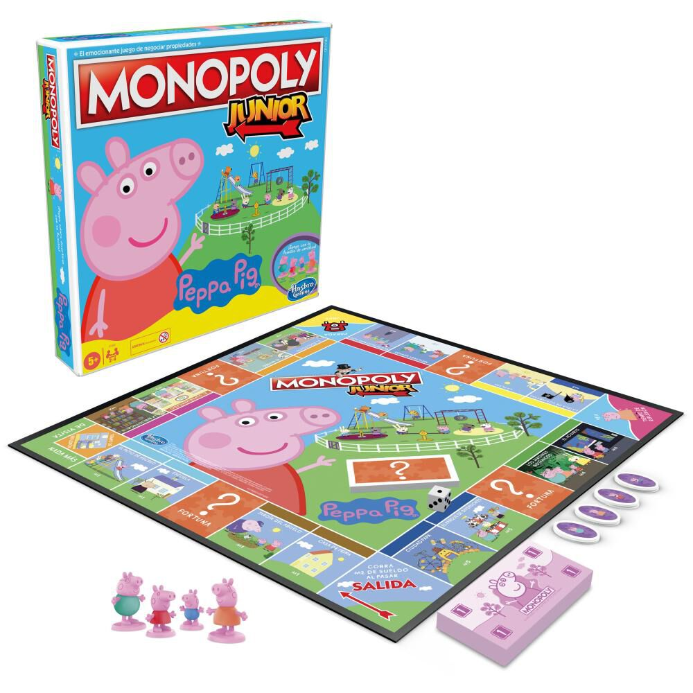 Juegos Infantiles Monopoly Junior Peppa Pig image number 4.0