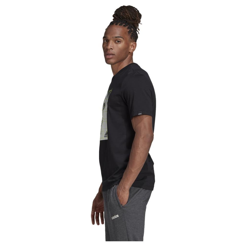 Polera Hombre Adidas M Hyperreal Ballspin Tee image number 4.0