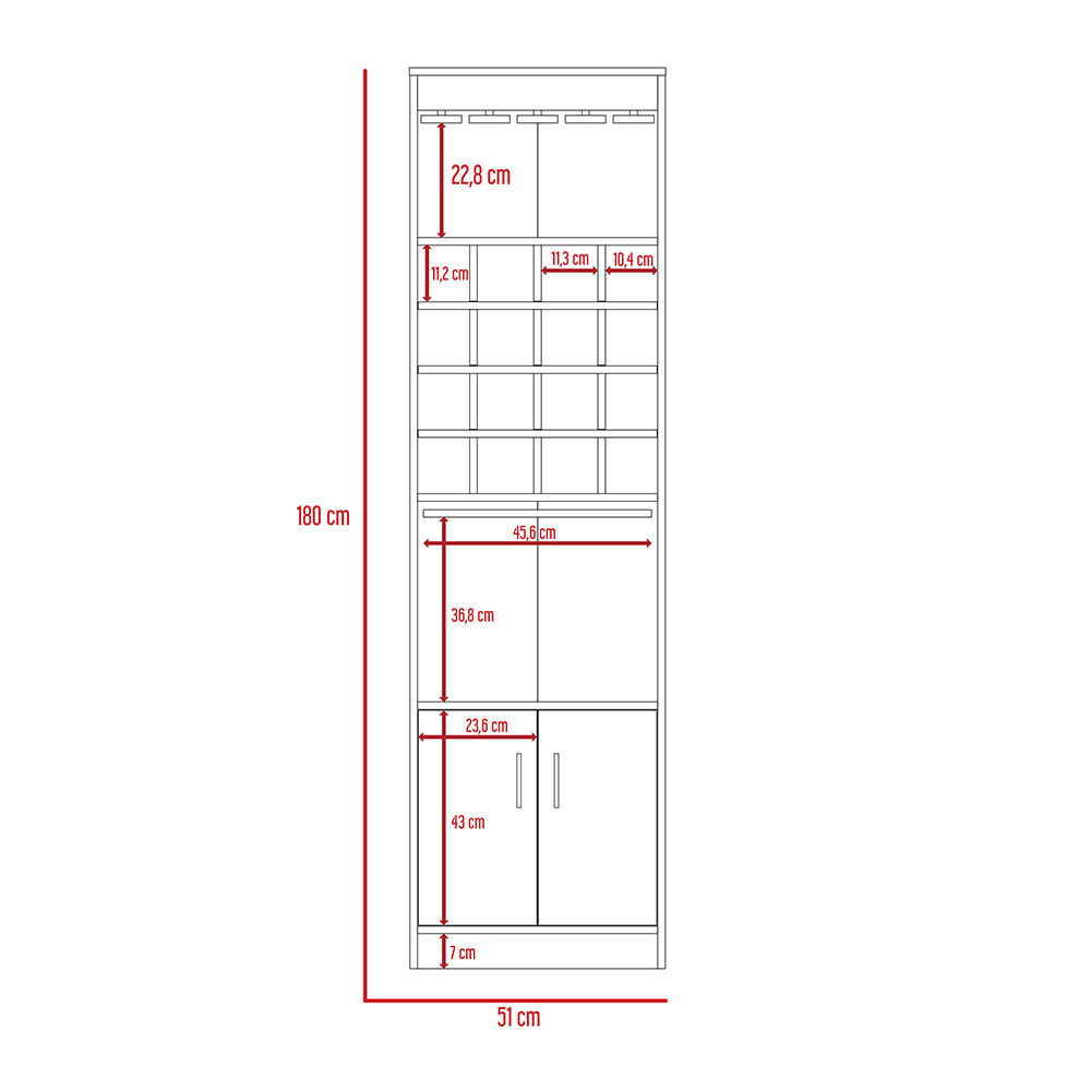 Combo Rack Extensible Casa Ideal Beijing + Bar Casa Ideal Kava image number 5.0