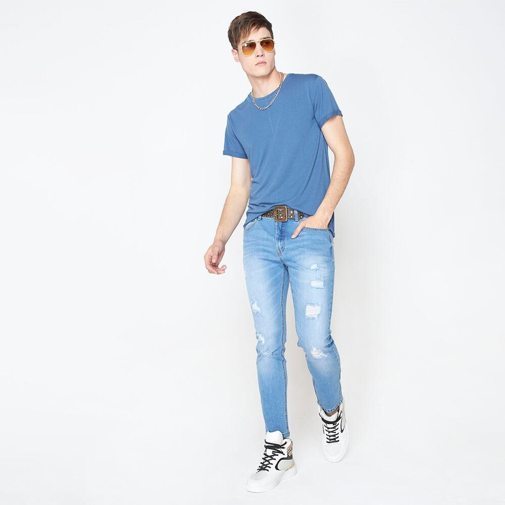 Jeans Skinny Hombre Rolly Go image number 1.0