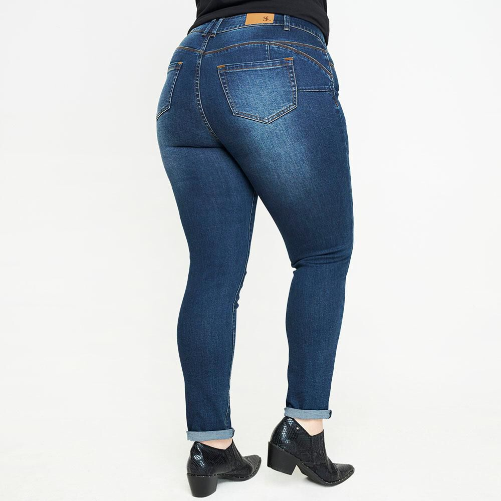 Jeans Jogger Tiro Medio Skinny Mujer Sexy Large image number 2.0