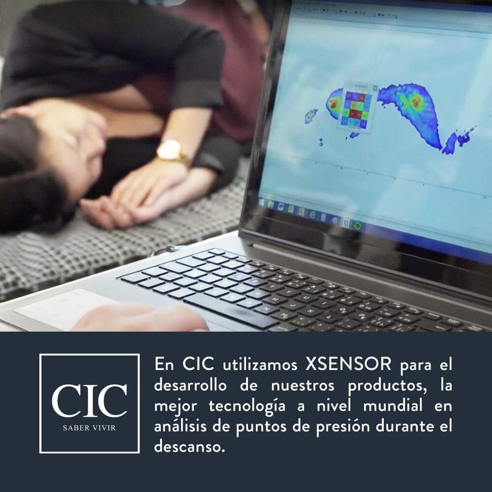 Cama Baúl Cic New Ortopedic / 2 Plazas / Base Normal + Velador image number 2.0