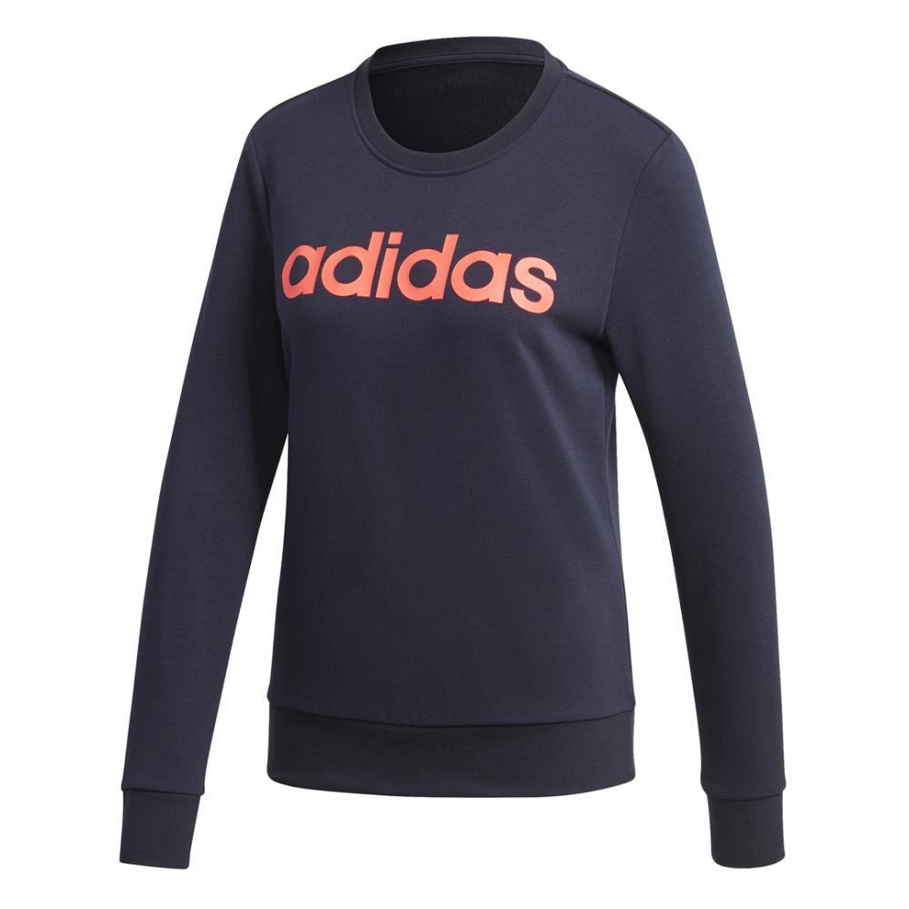 Polerón Deportivo Mujer Adidas Essentials Linear Crewneck image number 9.0