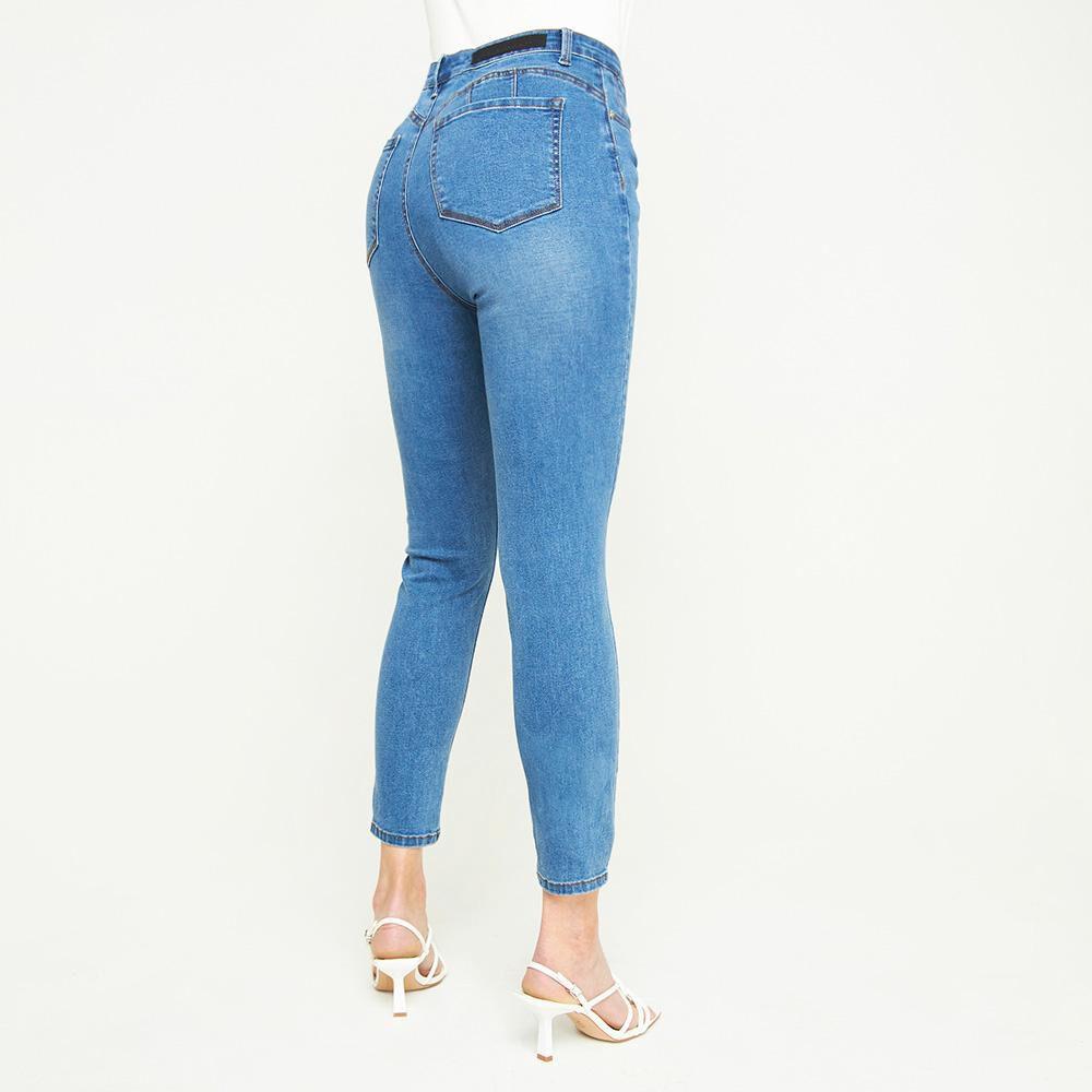 Jeans Tiro Medio Skinny Push Up Mujer Kimera image number 2.0