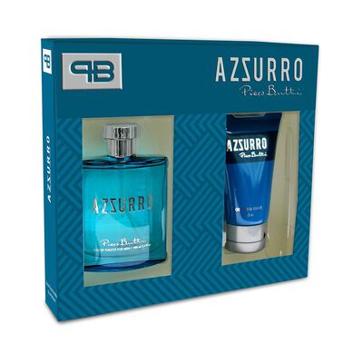Estuche Azzurro 100 + Gel Aftershave Piero Butti / 100 Ml