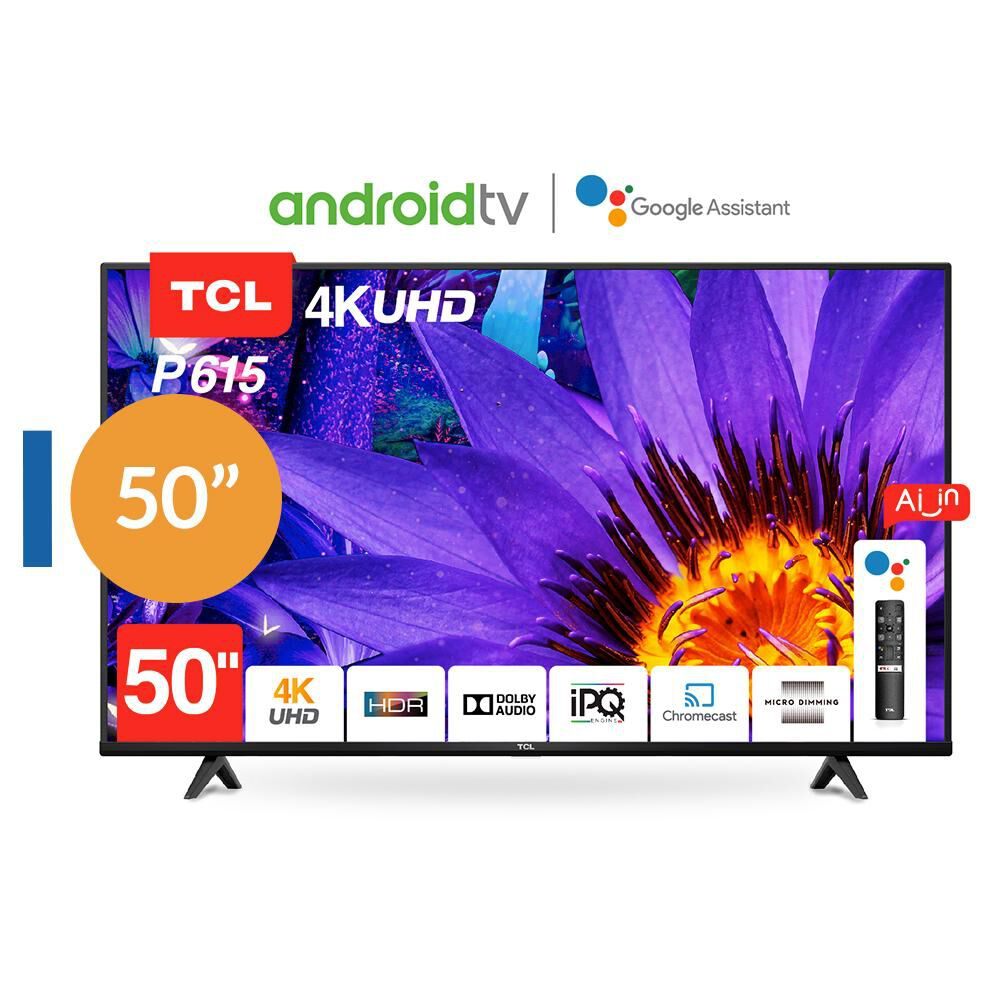 Led Tcl 50p615 Android Tv / 50'' / Ultra Hd / 4k / Smart Tv image number 0.0