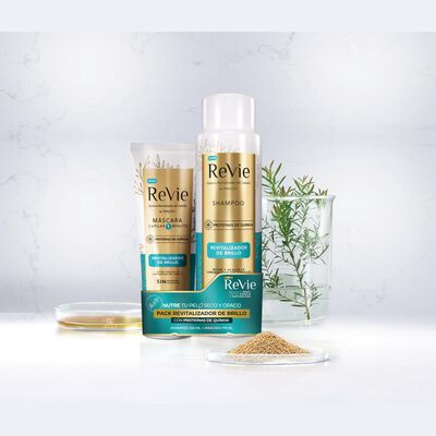 Pack Shampoo + Máscara Revie Brillo
